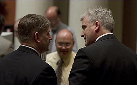 House Minority Leader Kurt Zellers and Rep. Tom Emmer