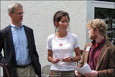 State Sen. John Marty, Tracy Singleton, John Stewart