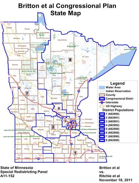 Britton et al Congressional Plan State Map