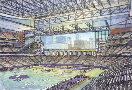 Vikings stadium concept