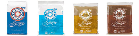 Crystal Sugar's retail line of products