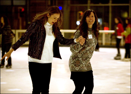 Skating the night away at the Depot in downtown Minneapolis