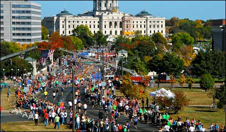 A strong finish from the Cathedral to the Capitol.
