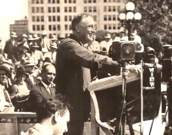 """FDR at MSG: """"We know now that government by organized money is just as dangerous as government by organized mob."""""""