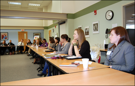 Young nonprofit professionals gathered for the YPG roundtable in early March, 2011
