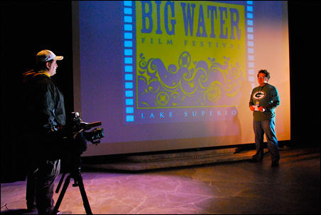 BWFF committee member Jeremy Oswald is interviewed by a local TV station.