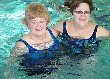 Diane Gervais, left, and Paulette Wolters