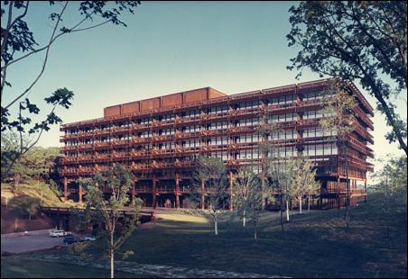 Deere and Company Administrative Center, Moline, Illinois, circa 1963