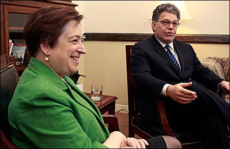 Nominee Elena Kagan met with Sen. Al Franken on May 18.