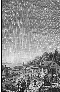 1833 meteor shower