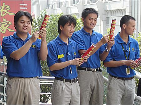 Sales staff at Best Buy Shanghai