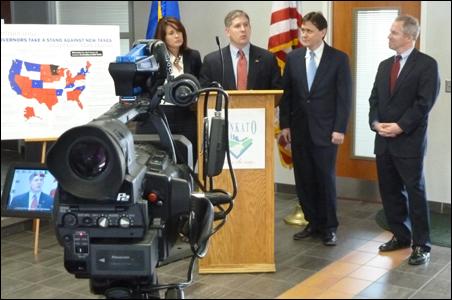 One camera captures the GOP budget presentation.