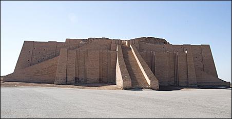 The ziggurat at Ur, Iraq