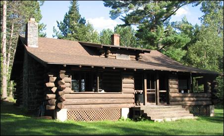 The main ranger cabin at the Kawishiwi Halfway Ranger Station.