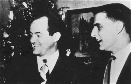 Hubert Humphrey and Walter Mondale pictured in 1948.