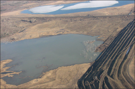 The tailings basin of the former LTV taconite company, purchased for use by PolyMet, Inc., is currently leaching contaminants into the St. Louis River watershed.
