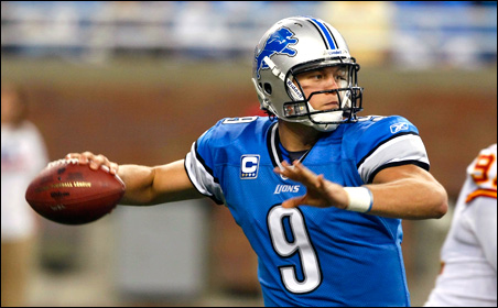 Quarterback Matthew Stafford has been a key in the Lions' turnaround.