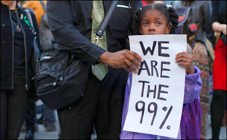 """Inspired by the Occupy Wall Street protests, Occupy Minnesota's message is """"people over profits."""""""