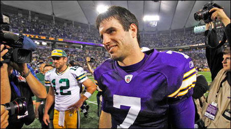 Christian Ponder makes a strong debut Sunday as starting quarterback.