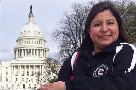 Carla Big Bear finished a semester in Washington this year.
