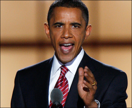 Sen. Barack Obama closes the Democratic National Convention with his acceptance speech Thursday night.