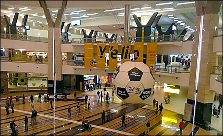 The Johannesberg airport readies for World Cup travelers.