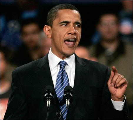 Democratic presidential candidate Senator Barack Obama