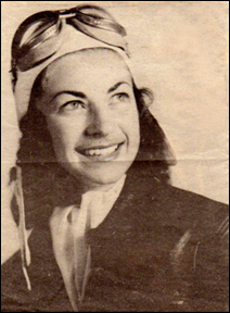 "Mildred ""Mickey"" Axton, shown at age 23, was the first woman to fly a B-29."