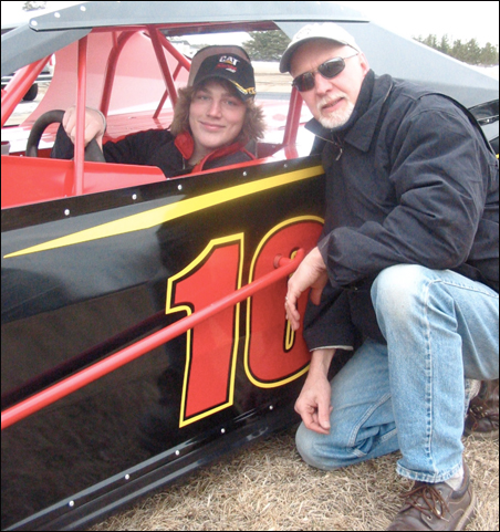 Author Will Weaver with driver Skyler Smith.