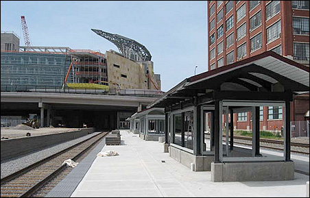 Photo from May 20 of the downtown station underconstruction
