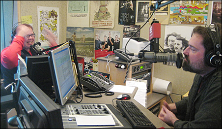 Current hosts Jill Riley and Steve Seel during a recent morning show.