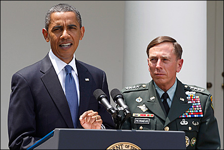 President Barack Obama announced that Gen. David Petraeus will replace Gen. Stanley McChrystal as his top commander in Afghanistan on Wednesday.