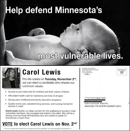 Carol Lewis mailer