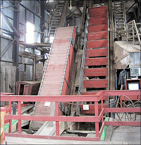 Two skips at the Quincy Mine Hoist