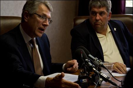 "Tom Horner and running mate Jim Mulder outline their ""Minnesota Works"" budget plan."