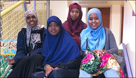 Higher Ground Academy students from left: Amal Said, Saynab Omar, Sahra Ali and Ecram Abde.