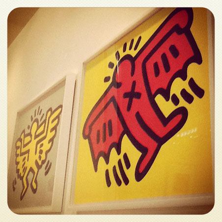 Keith Haring prints at the Burnet Gallery