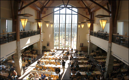 St. Olaf's Stav Hall features sustainable, locally grown food, and, according to a feature in this week's Newsweek, the best campus dining in the nation.