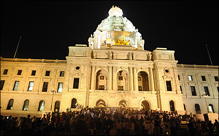 Citizens rallied at the steps of the Capitol on Thursday night.