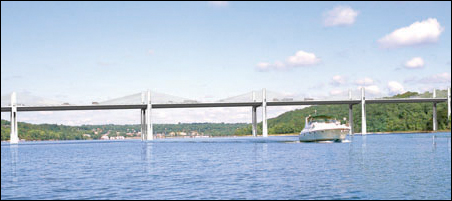 An artist's rendering of a proposed design for the Stillwater bridge.