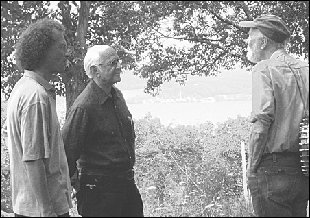 William Eigen (left), Norman Lear (center: yes, that Norman Lear) and Pete Seeger.