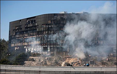 Joseph Andrew Stack's Piper Cherokee PA-28 Dakota struck Building 1 at the Echelon office complex Thursday morning.