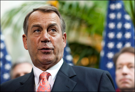 House Speaker John Boehner said Republicans will vote down the bill when it comes to the floor later today.
