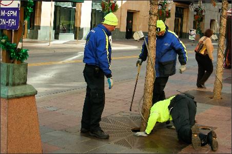 Downtown Improvement District ambassadors at work.