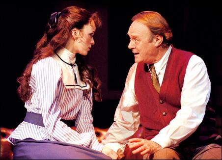 Lisa O'Hare as Eliza Doolittle and Christopher Cazenove as Professor Henry Higgins.