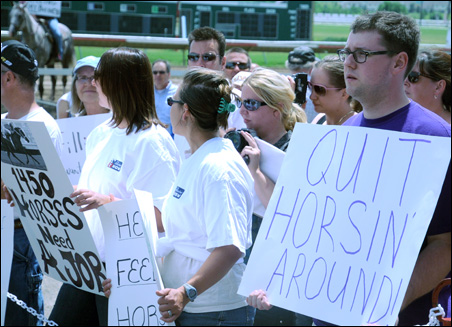 Canterbury employees and racino supporters are angry that their private sector jobs were compromised during Minnesota's government shutdown.
