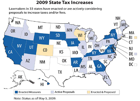 2009 state tax increases