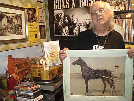 Retired teacher Jim Ashworth has filled his St. Paul home with beloved Dan Patch memorabilia.
