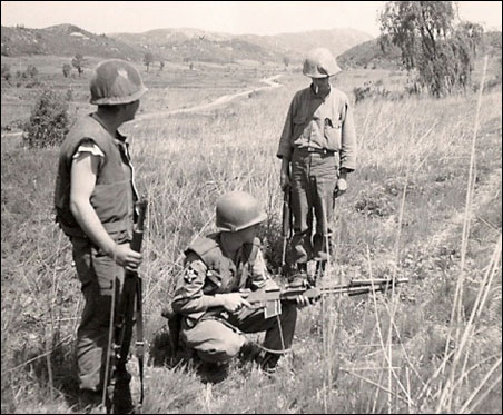 """This photo, taken by my dad, shows Ray on the left. The photo is dated May 1953. On the back my dad had written: """"Sgt. Shibe, June 2, 1953."""""""