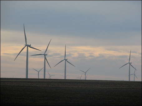 Windmills now dot the Grand Meadow area of southern Minnesota.